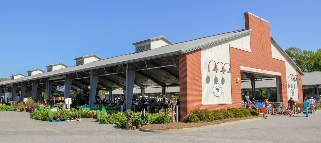 The North Shed at the SC State Farmers Market in Columbia, SC.