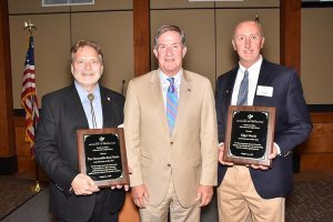 (From left to right): Senator Brad Hutto, SC Commissioner of Agriculture Hugh Weathers and Edgar Woods